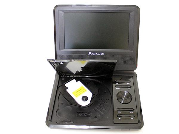 GAUDI ポータブルDVDプレーヤー GHV-PDV780