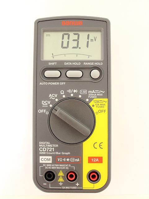 サンワ デジタルマルチメーター CD721